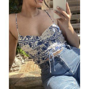 Urban Outfitters | Sophie Ruched Cropped Tank Top